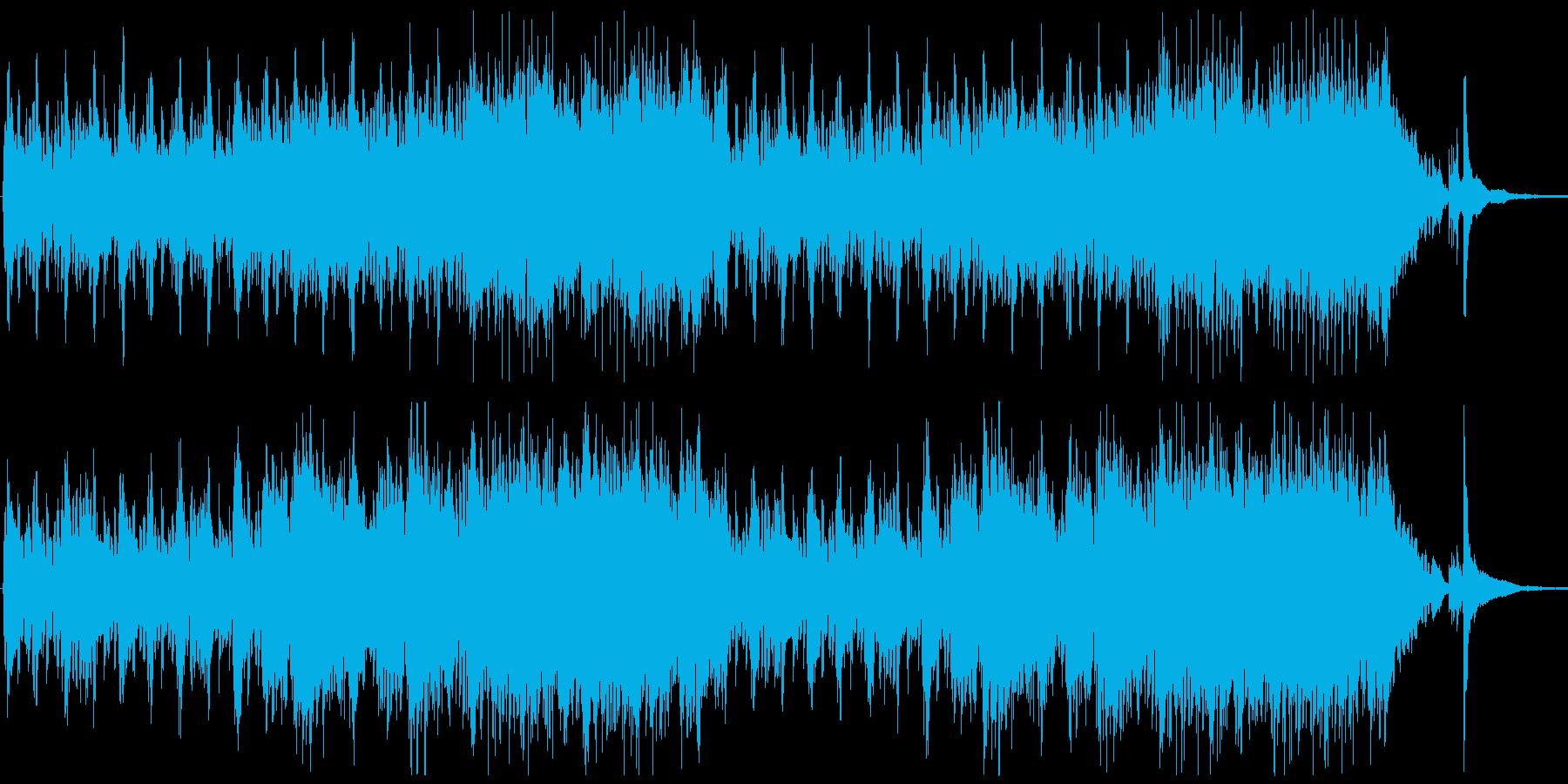 大空をイメージしたファンタジーBGMの再生済みの波形