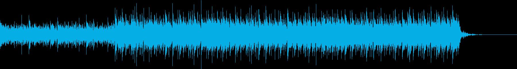 浮遊感のある近未来的なサウンドの再生済みの波形