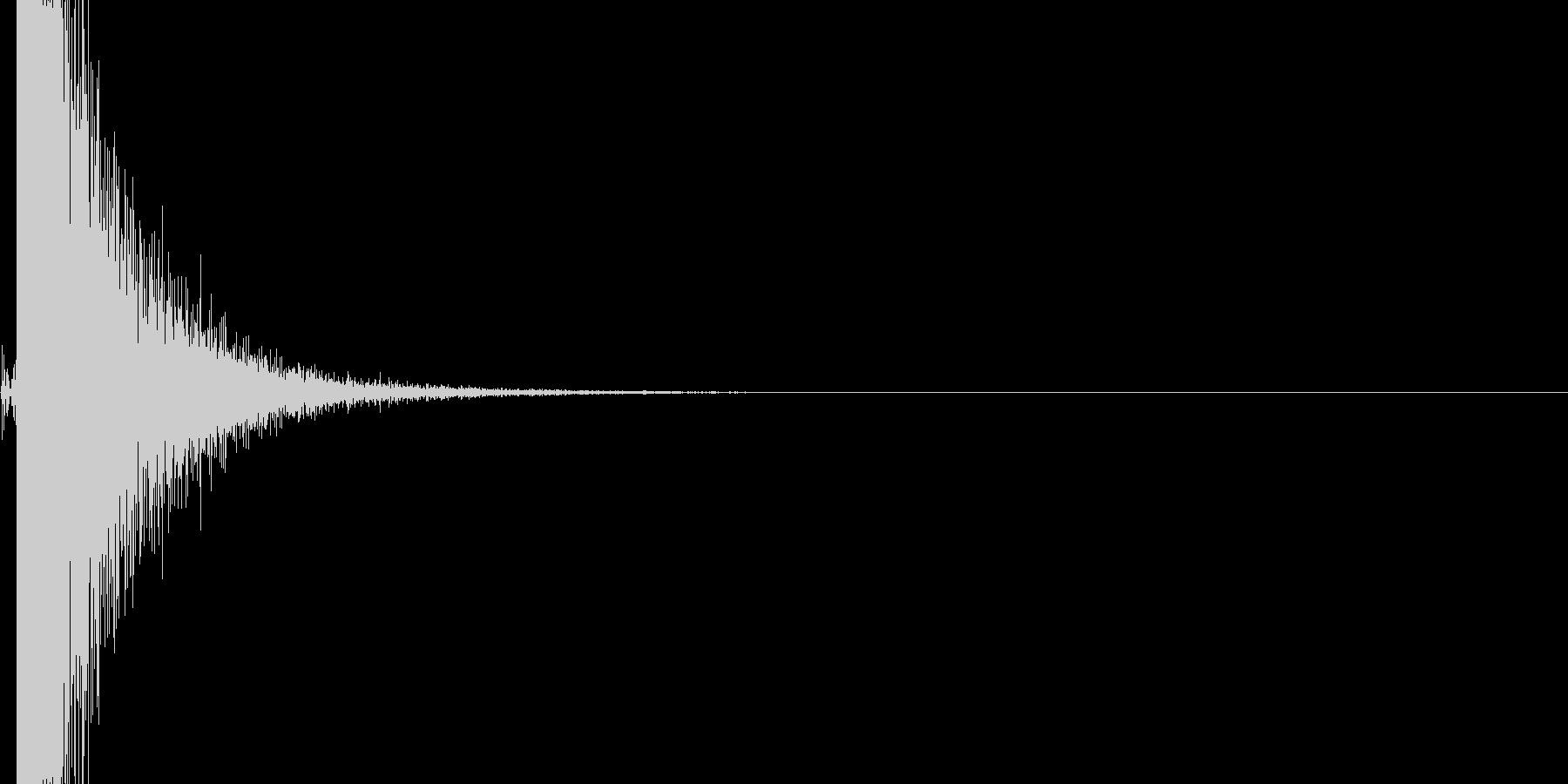 浴槽ハンマーヒットの未再生の波形