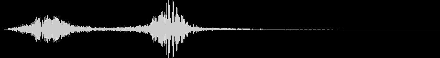 剣の接触とスワイプの未再生の波形