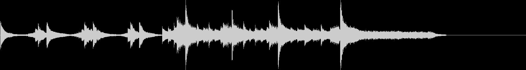 琴・ピアノを使った和風のアテンション1の未再生の波形