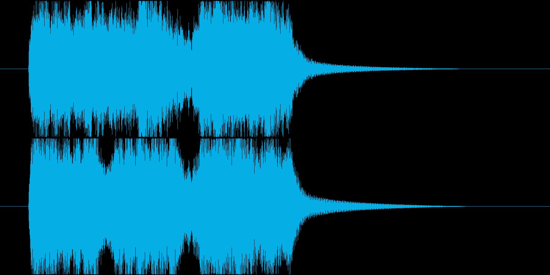 スピード感のあるファンファーレの再生済みの波形