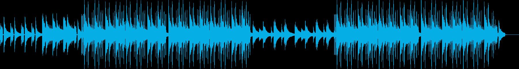 落ち着いた雰囲気のLofi HipHopの再生済みの波形