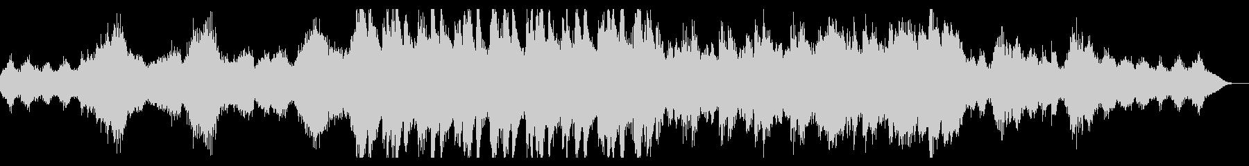雪男をイメージした不気味なオーケストラ曲の未再生の波形
