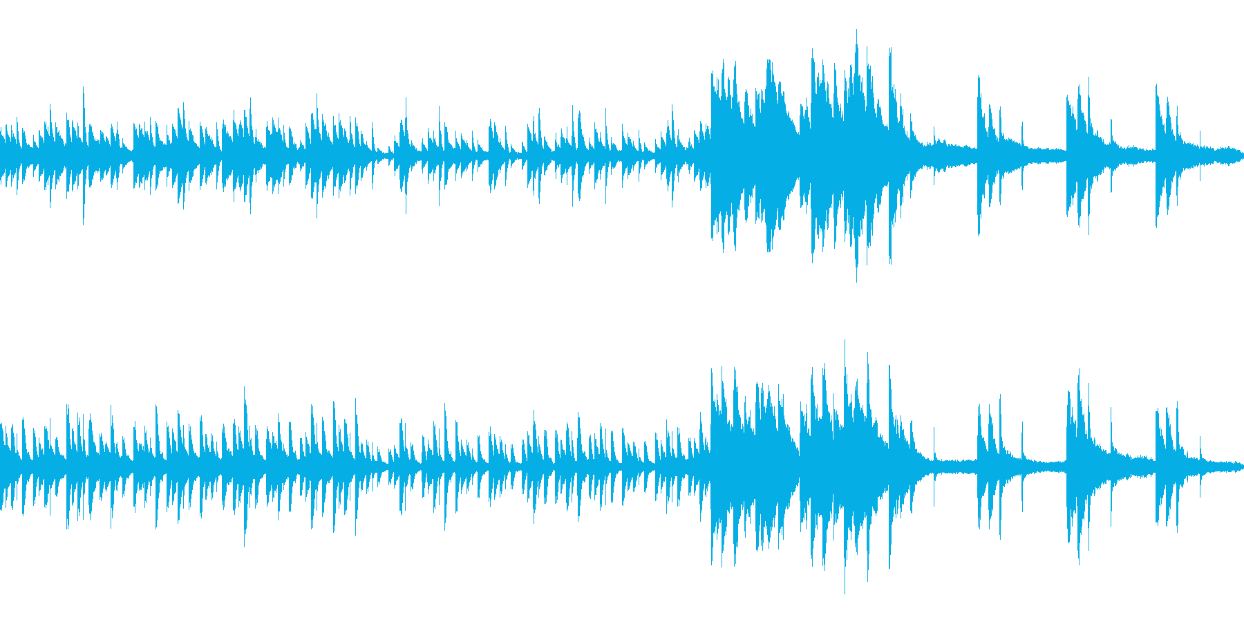 水のピアノ効果音 涼しげ生演奏LOOP の再生済みの波形