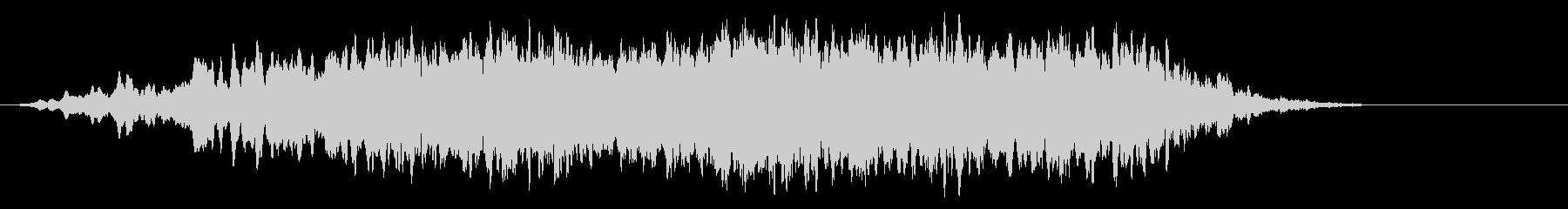 声とシンセサイザーの幻想的な環境音の未再生の波形