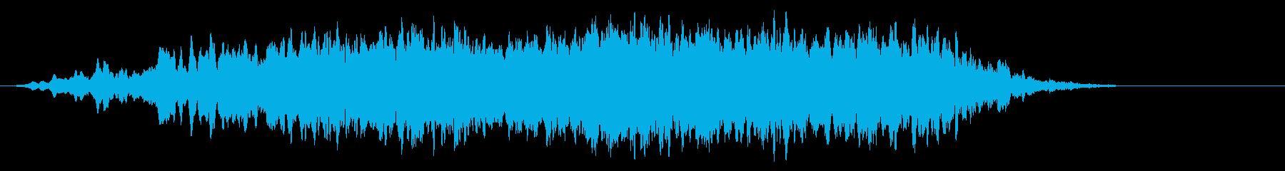 声とシンセサイザーの幻想的な環境音の再生済みの波形