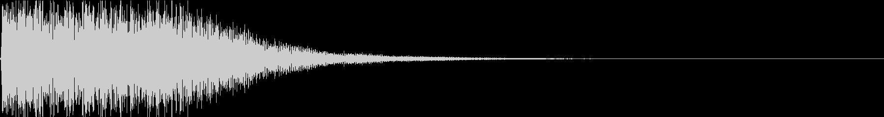 テレビ番組動画テロップ_インパクトベルの未再生の波形