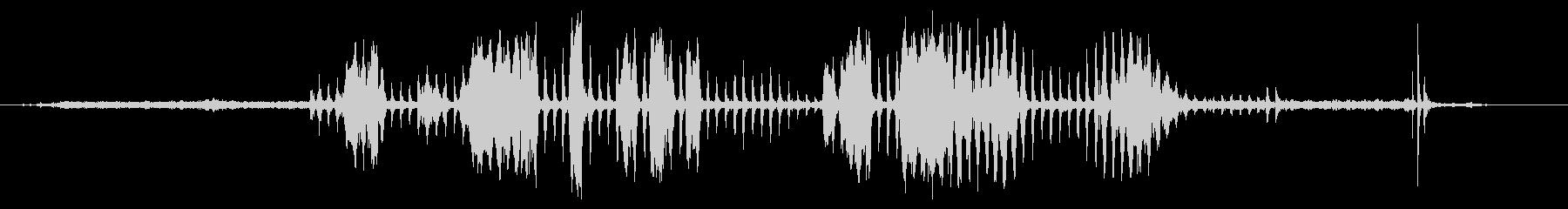 電気キーカッター:スタート、カット...の未再生の波形