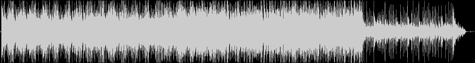リズミックなポップテイストBGMの未再生の波形