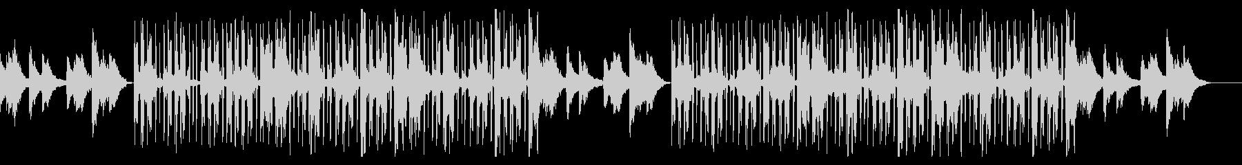 ギターとピアノの静かなチル・ヒップホップの未再生の波形