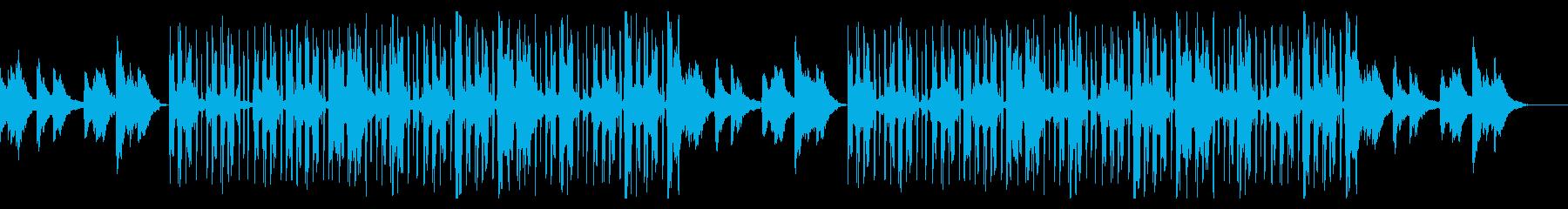 ギターとピアノの静かなチル・ヒップホップの再生済みの波形