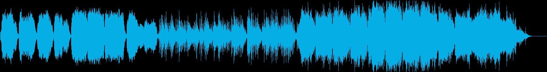 ケルトのホイッスルとハープの柔らかな曲8の再生済みの波形