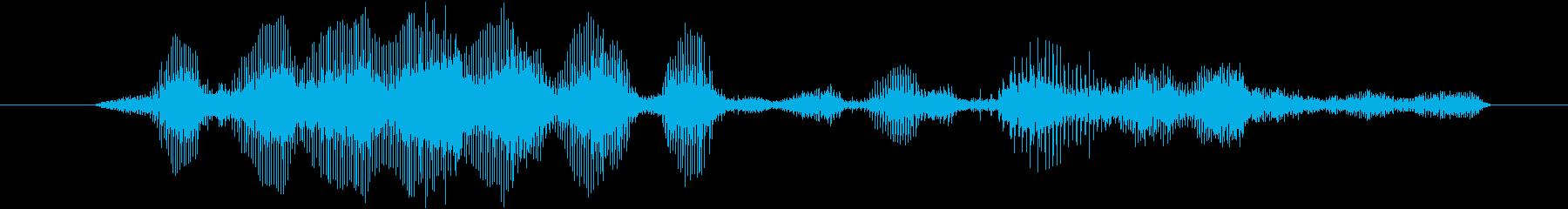 ヤギ Baaingヤギ02の再生済みの波形