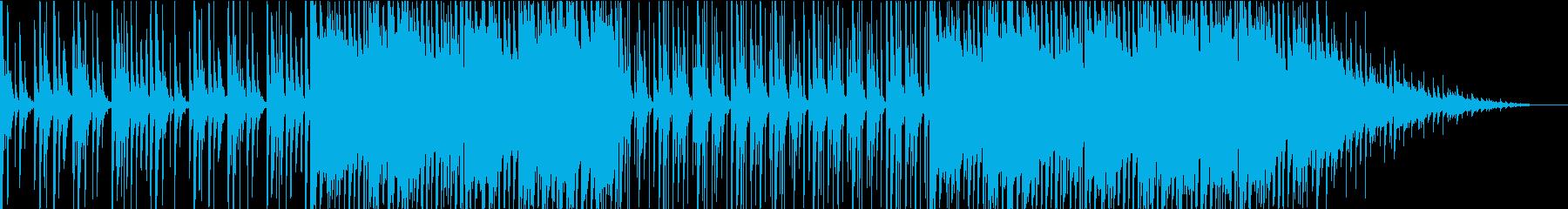 遺跡のような雰囲気の楽曲の再生済みの波形