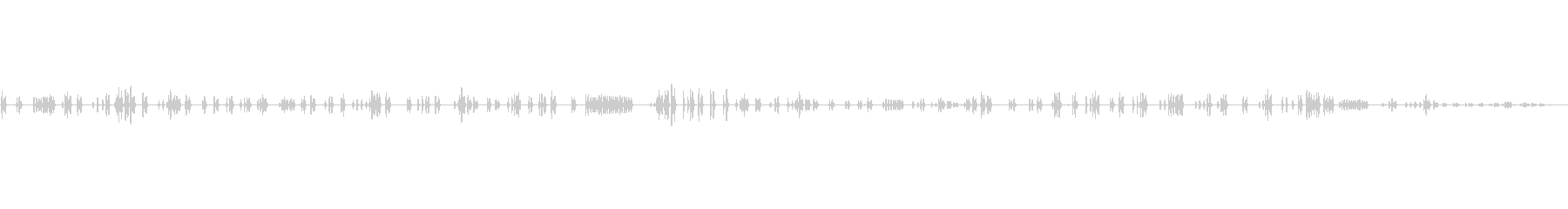 ヒヨドリ8 ソロ 使い易い~早朝生録音の未再生の波形