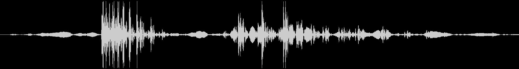 ゴクン 喉の音1の未再生の波形