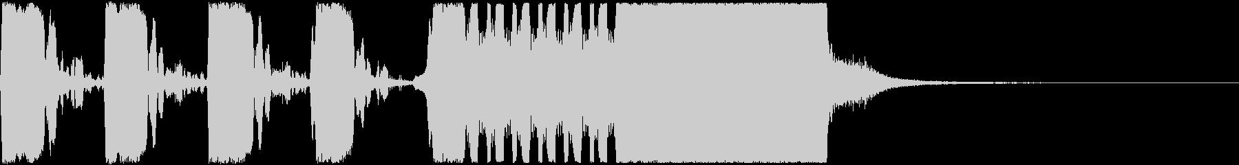 ゲームオーバー下がっていくトランペットの未再生の波形