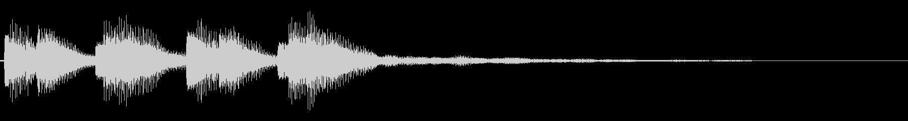 警告音(不協和音)の未再生の波形