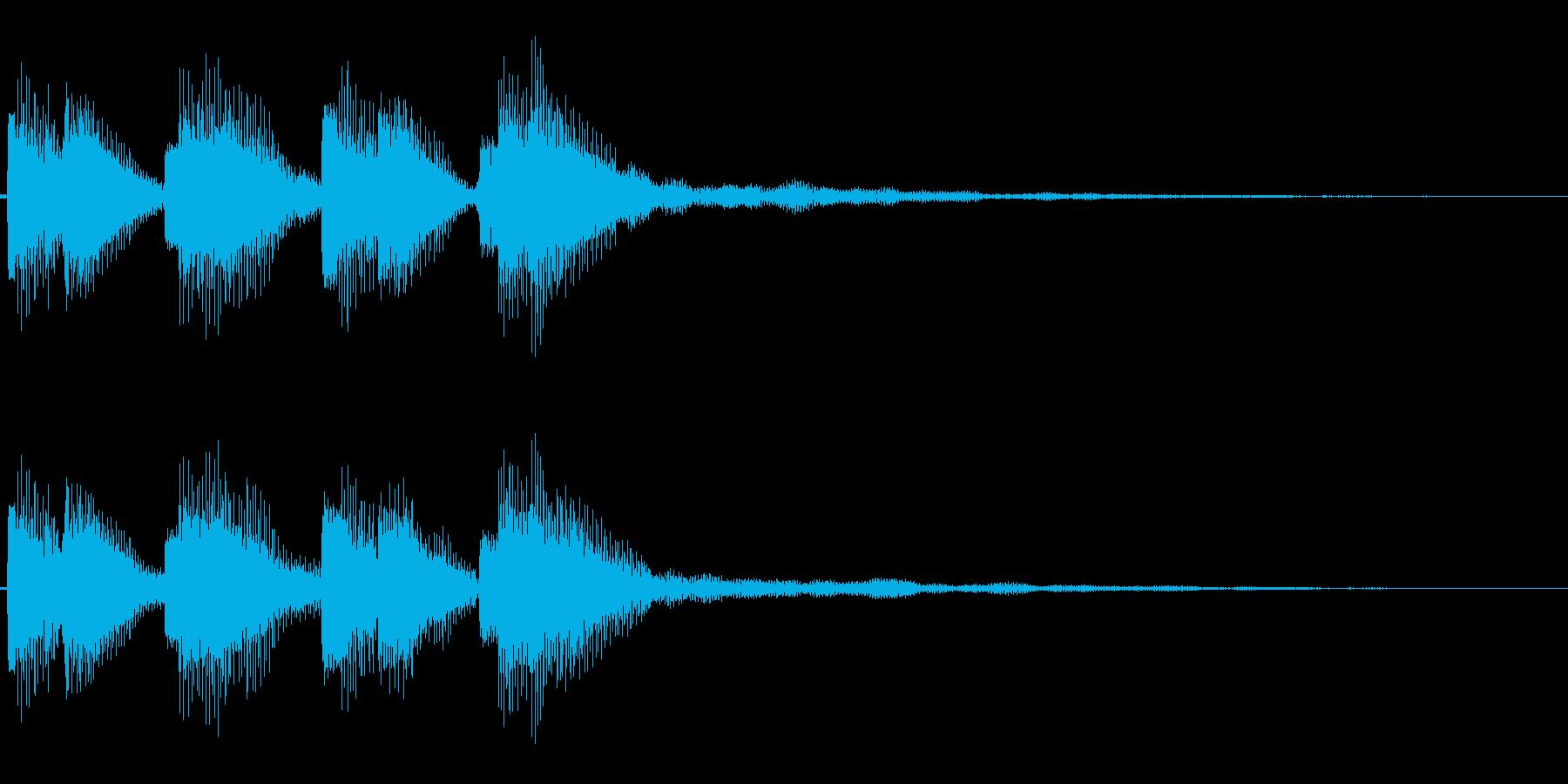 警告音(不協和音)の再生済みの波形