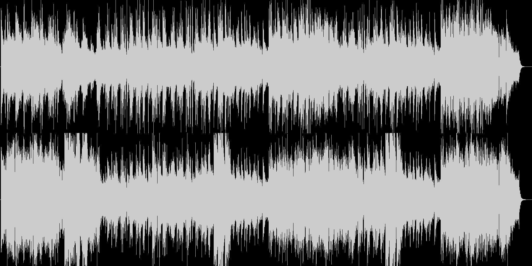悠々と感動的なシンセ・ピアノなどの曲の未再生の波形