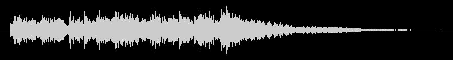 ブルージーなピアノジングル2の未再生の波形