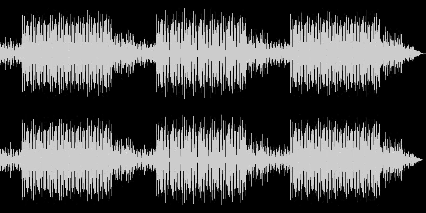 自然と体が揺れるヒップホップBGMの未再生の波形