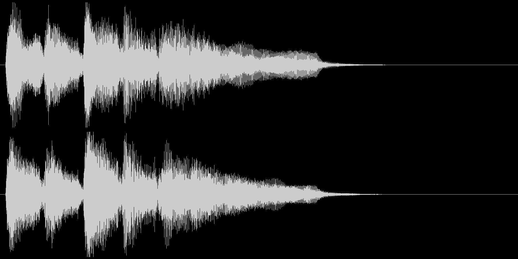ニュース番組系のジャズSAXサウンドロゴの未再生の波形