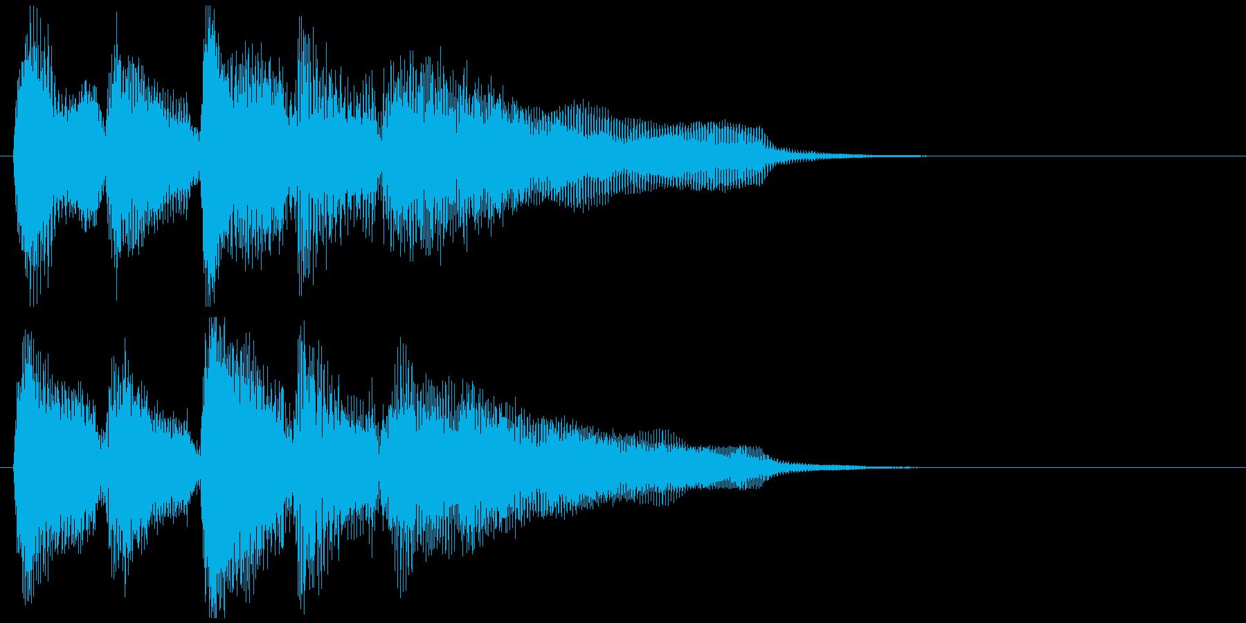 ニュース番組系のジャズSAXサウンドロゴの再生済みの波形