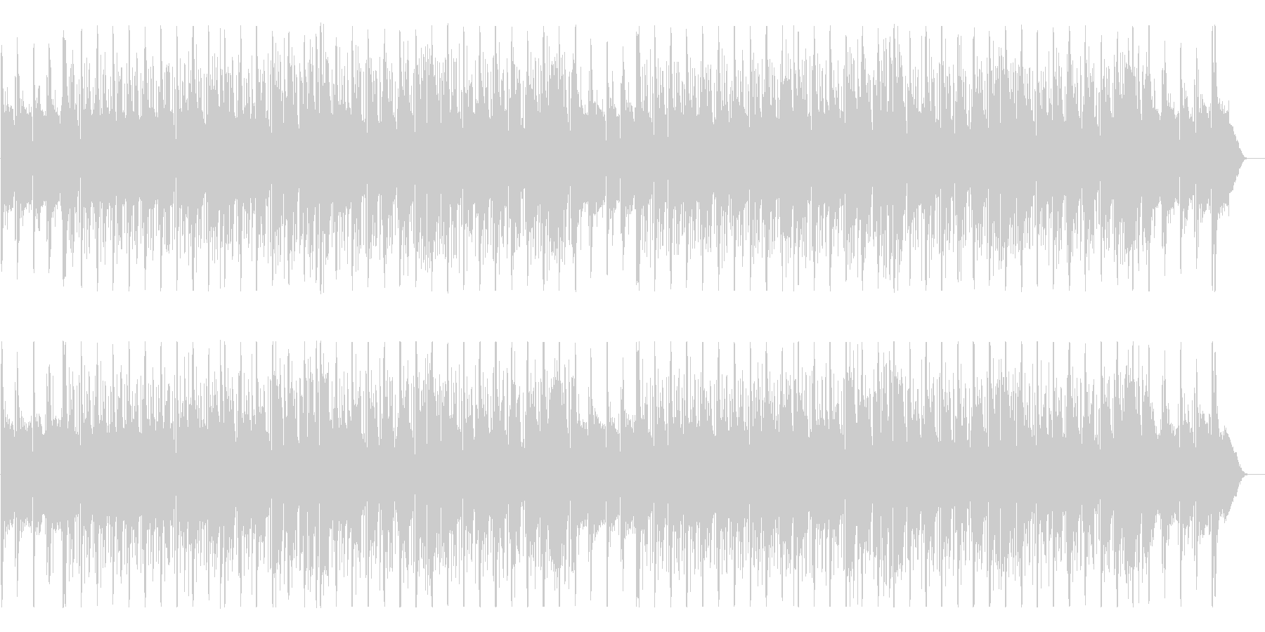 切なく少し寂し気なメロディーのBGMの未再生の波形