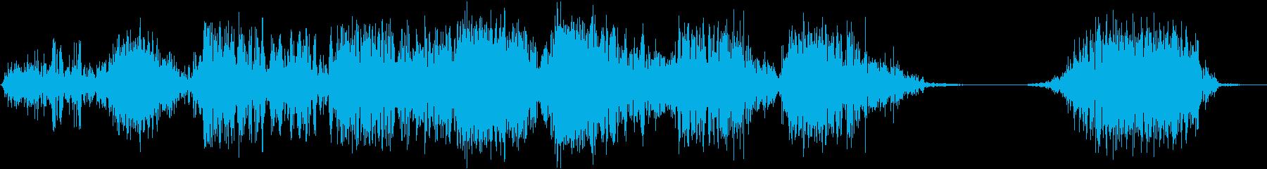 モンスター 威嚇 02の再生済みの波形