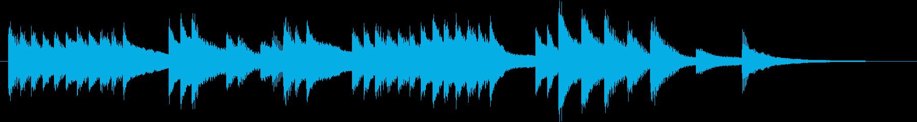のどかで懐かしいメロディのピアノジングルの再生済みの波形