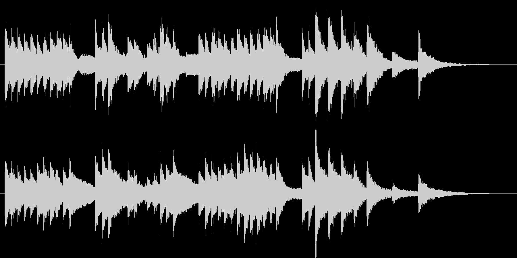 のどかで懐かしいメロディのピアノジングルの未再生の波形