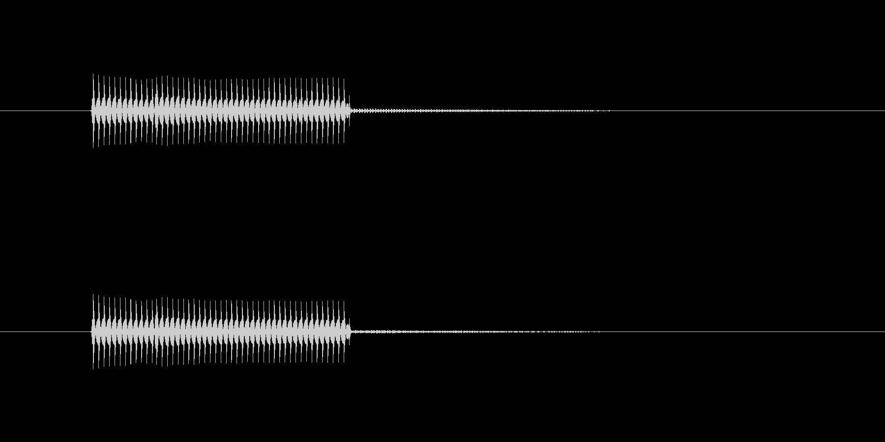 クイズ不正解音(ブブー)2の未再生の波形