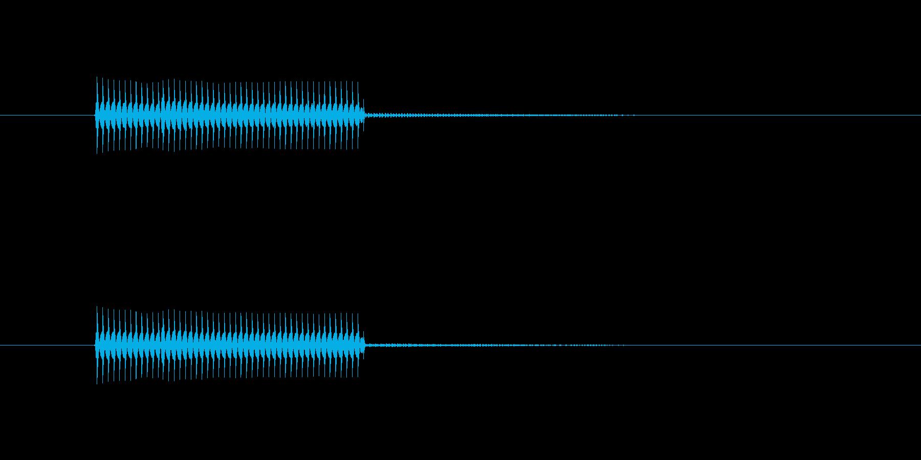 クイズ不正解音(ブブー)2の再生済みの波形
