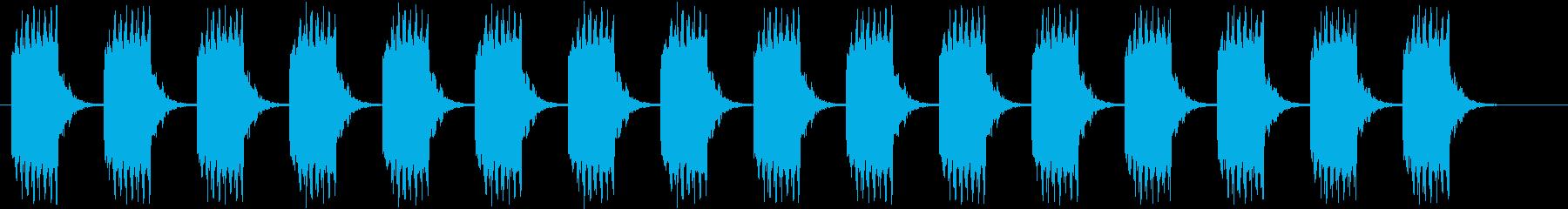 ブザー音ロング_リバーブ付きの再生済みの波形