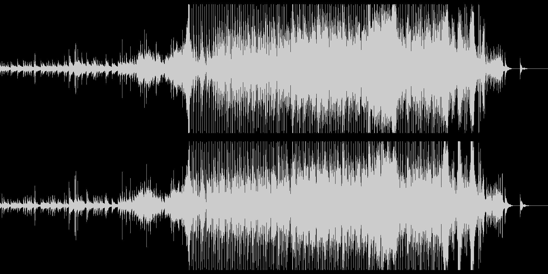 ピアノとオーケストラのBGMの未再生の波形