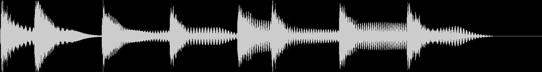 着信音 ループ お知らせ 通知 海 4の未再生の波形