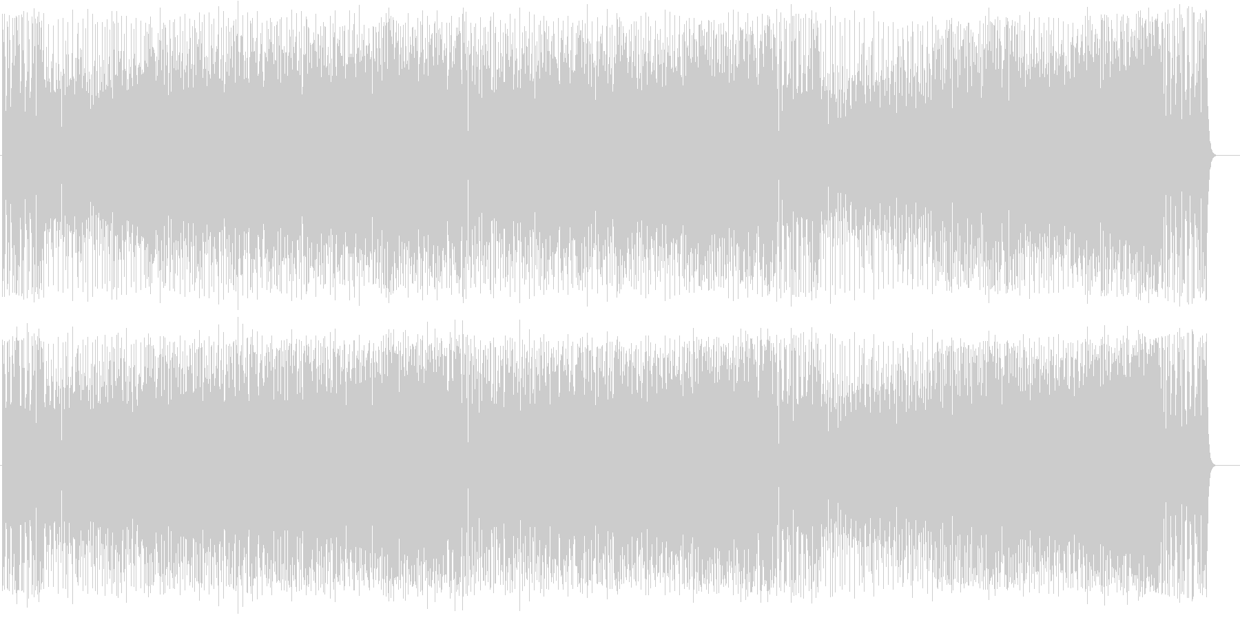 エンディング・テーマ向けのフュージョンの未再生の波形