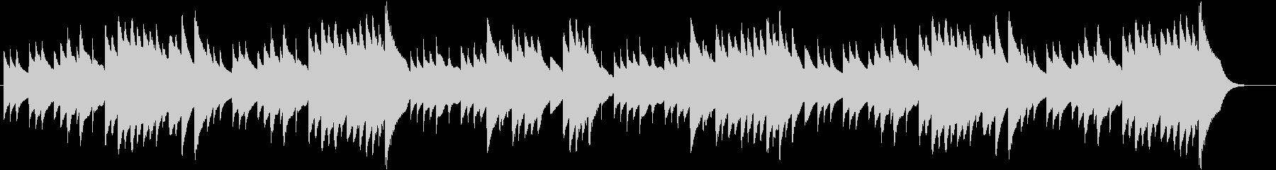 ジングルベルのオルゴールバージョンの未再生の波形