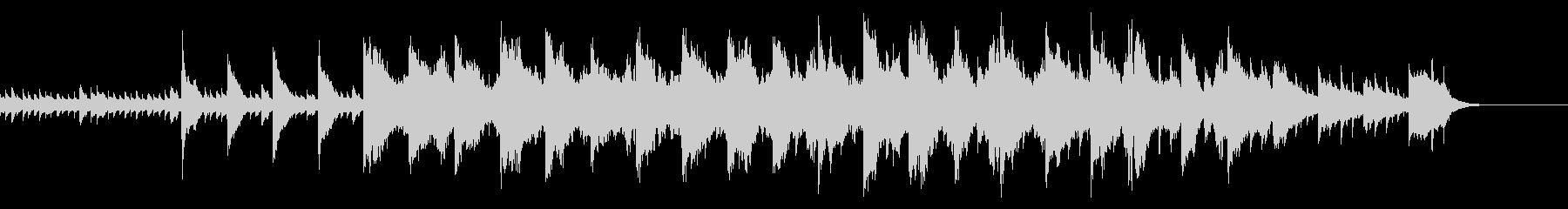 ピアノ曲 回想シーンや試練のシーンの未再生の波形