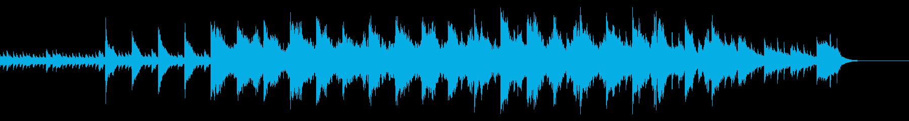 ピアノ曲 回想シーンや試練のシーンの再生済みの波形