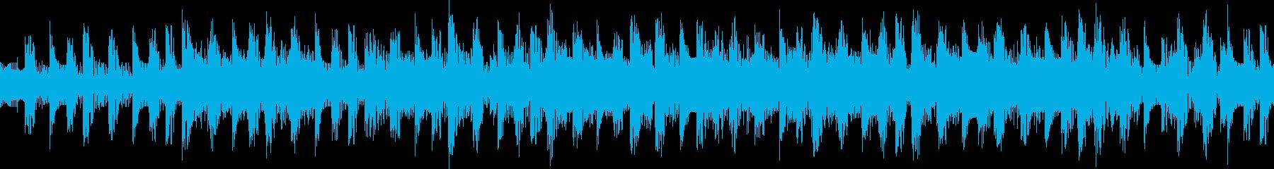 戦闘シーンぴこぴこ高速変拍子攻めのループの再生済みの波形