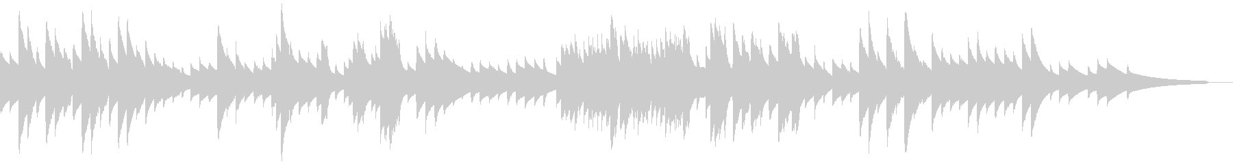 切なく優しいオルゴールの未再生の波形
