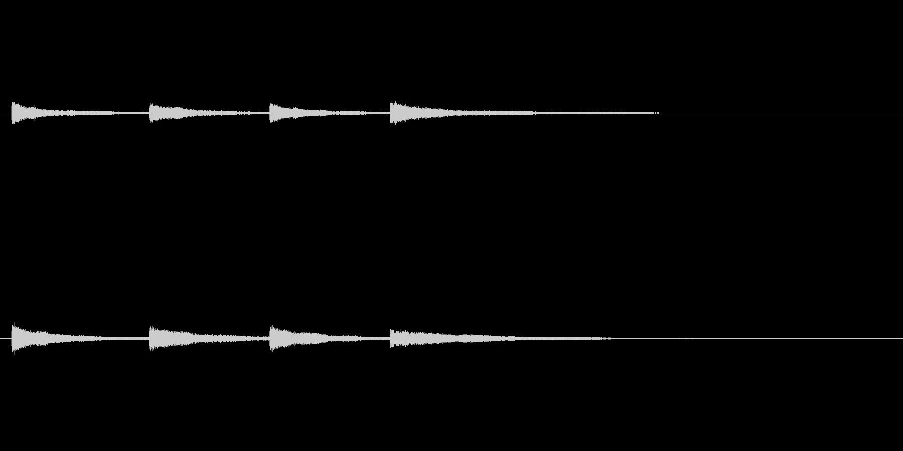 「キンコンカンコン (チャイム)」の未再生の波形