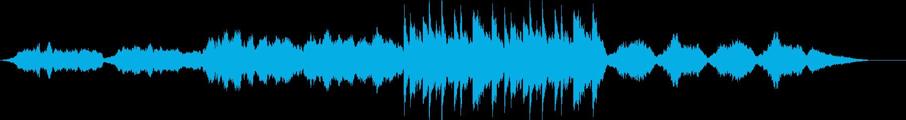 オンライン休憩用落ち着くクラシック4重奏の再生済みの波形