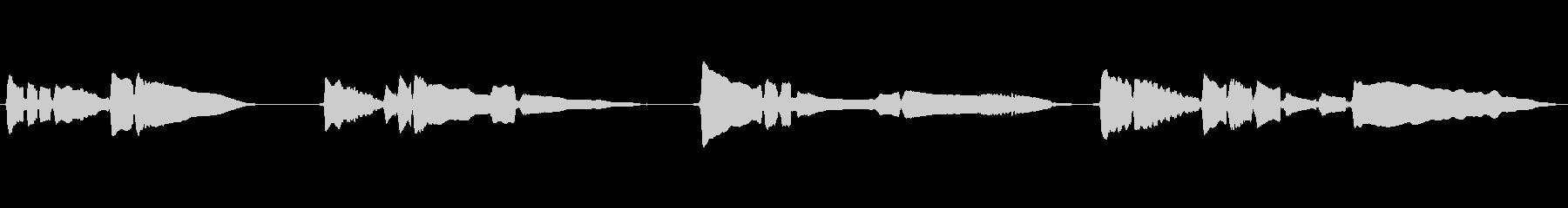 SAX一本の曲です。の未再生の波形
