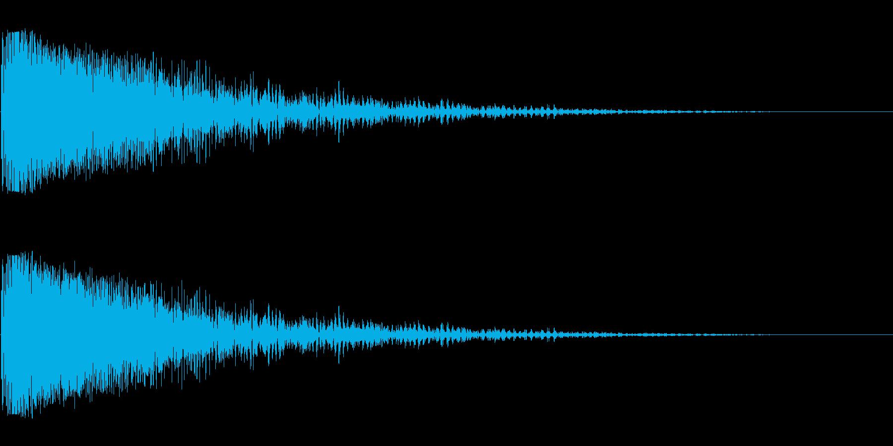 レーザービーム発射(強力なビーム)の再生済みの波形