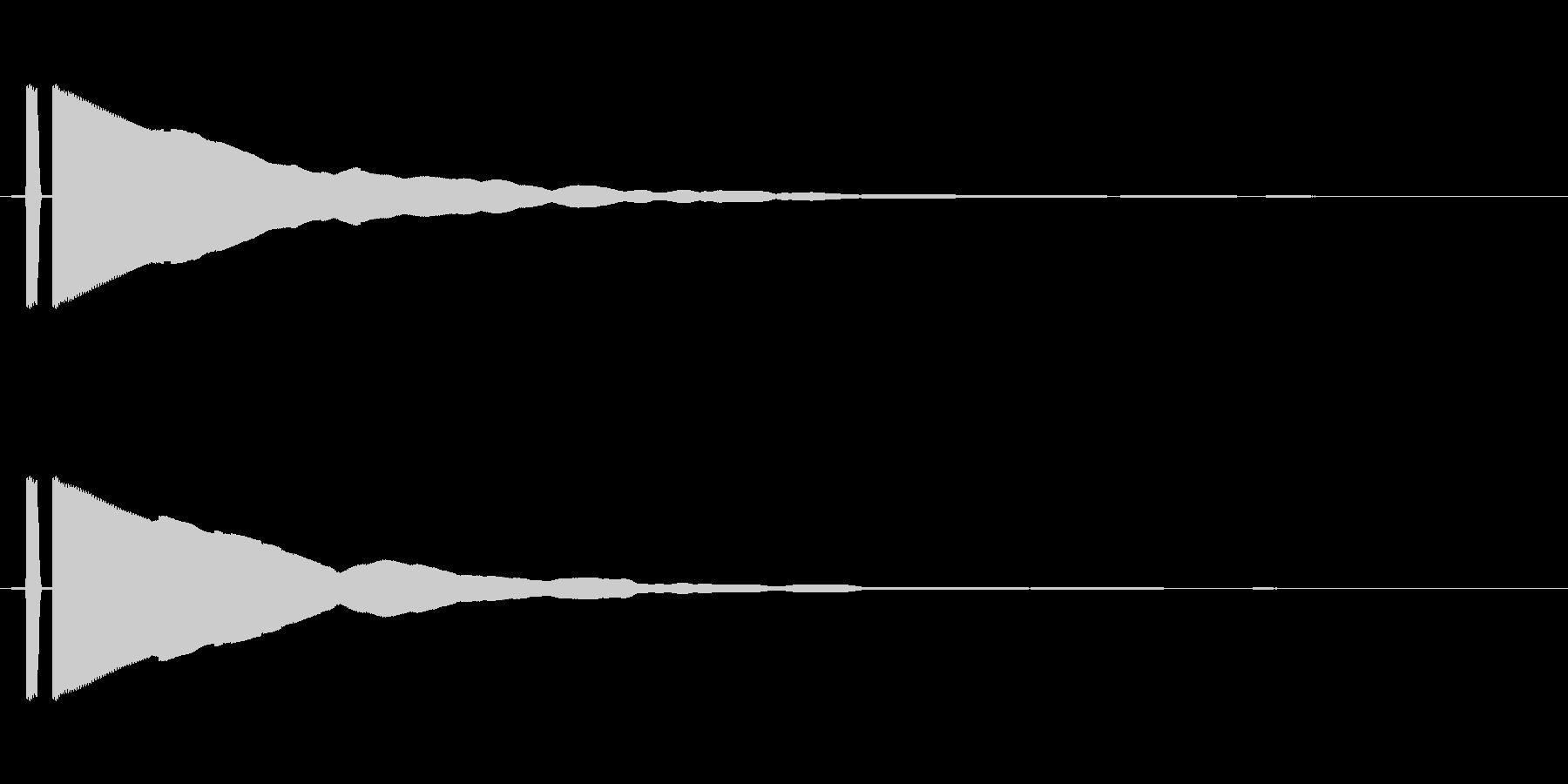 ピーン_決定系の電子音の未再生の波形