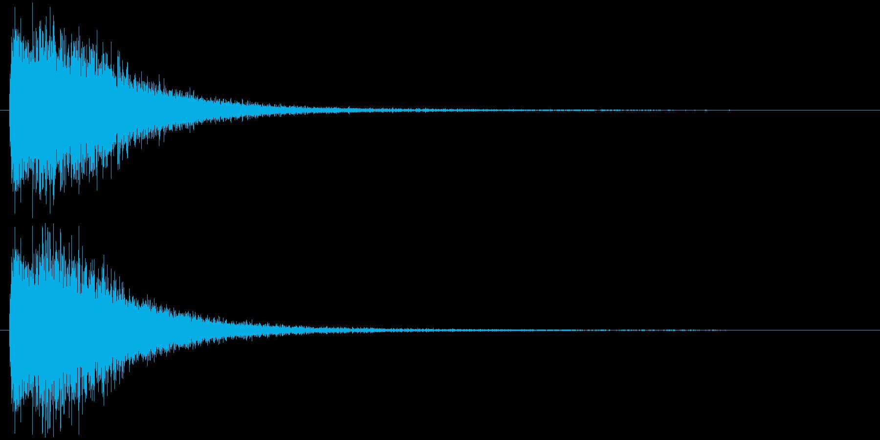 注意を引くインパクトのある音#6の再生済みの波形